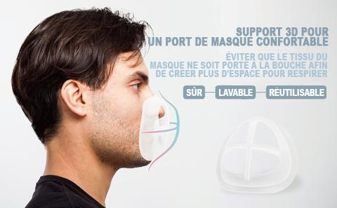 Support 3D de masque